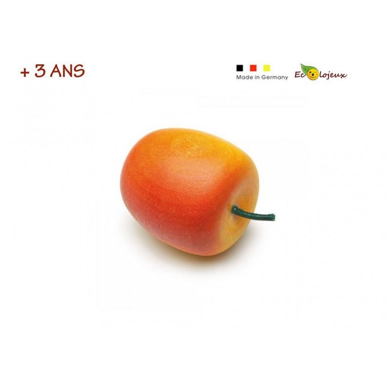 Dinette bois Pomme jaune rouge Dinette Erzi Jouet symbolique imitation maternelle