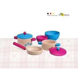 Dinette Set Cuisson Dinette jouet Bois Jeux Waldorf Ecole MAternelle Montessori