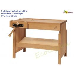 Etabli en bois Enfant artisanal Bois massif Mobilier école montessori waldorf