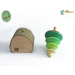 Toupie en bois Sapin JOUET BOIS TOUPIE ARTISANALE Originale Cadeau artisanal original FAIT MAIN