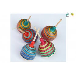 Toupie en bois Fridoline Toupies Mader WOODEN SPINNING TOP jouet bois naturel TOUPIE COLLECTIONNEUR