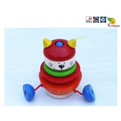 jouet bois selecta Chat karlo