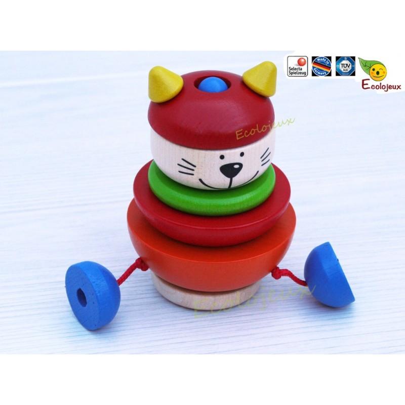 Selecta jouet gigogne à empiler Chat Jouet bois écolo