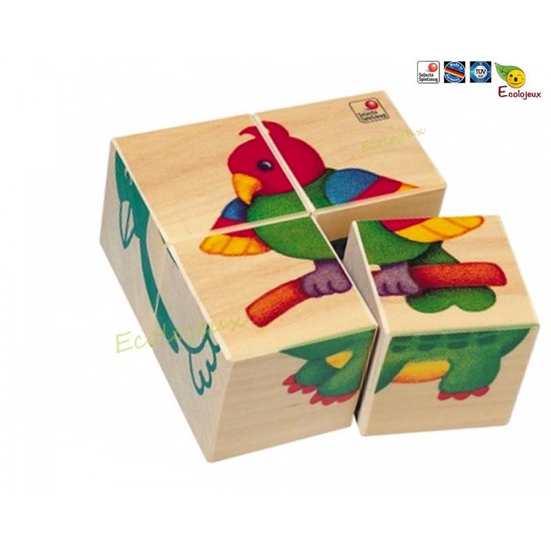 cubes puzzles selecta zoo 2 ans