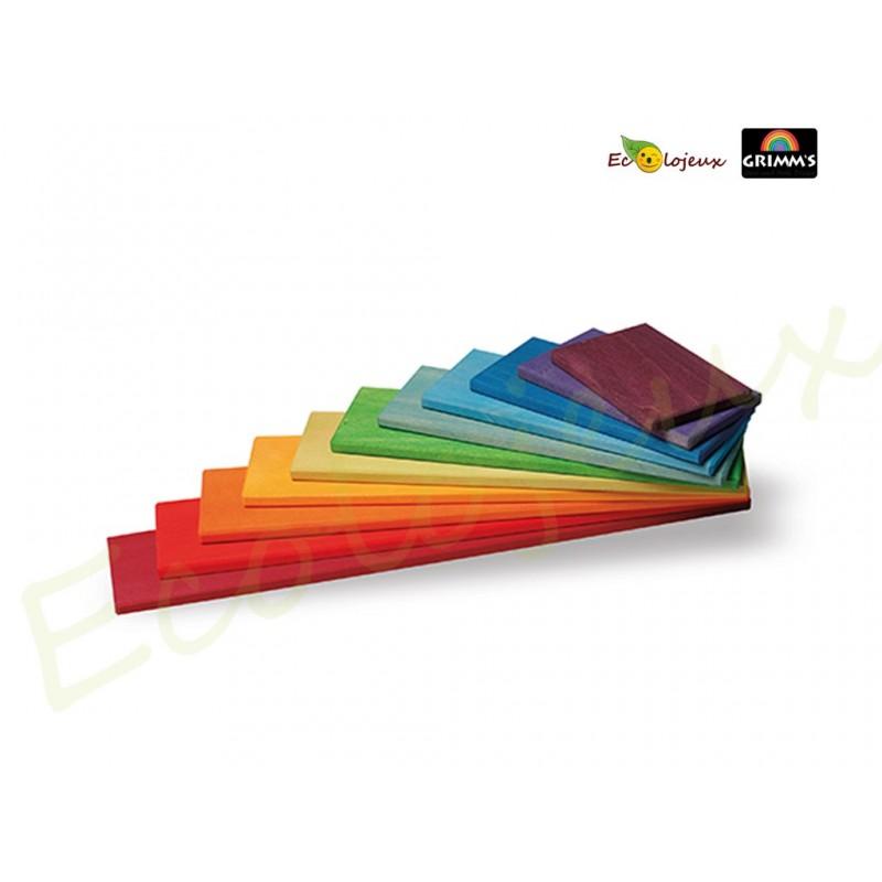 Planches de construction  Grimm's Coloris Arc en Ciel