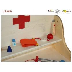 malette docteur jouet bois selecta mallette tensiomètre