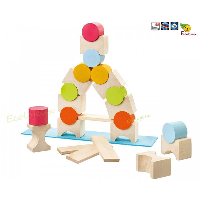 Coloro jouet bois jeu construction SELECTA SPIELE