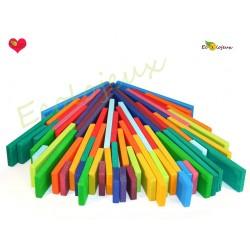 Jouet Bois Waldorf Jardin enfants - Jeu libre construction jouet bois planche plaquette nature écolo
