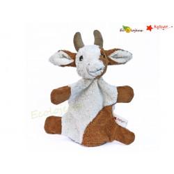 marionnette à main tissu Vache Kallisto Bio