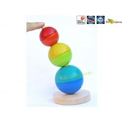 Jouet écologique Selecta Tour empilable Boules - tige flexible 62002