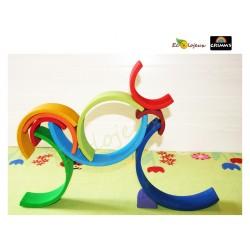 Arc en ciel Grimm's 10 pcs  Coucher du Soleil JOUET LIBRE JOUET BOIS jeu libre Waldorf montessori