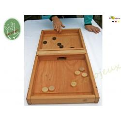 Pass' Trap Jeu de palet avec élastique Grand jeu en bois
