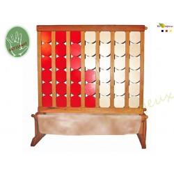 JEU SURDIMENSIONNE Grand Jeu en bois surdimensionné Grand puissance 4