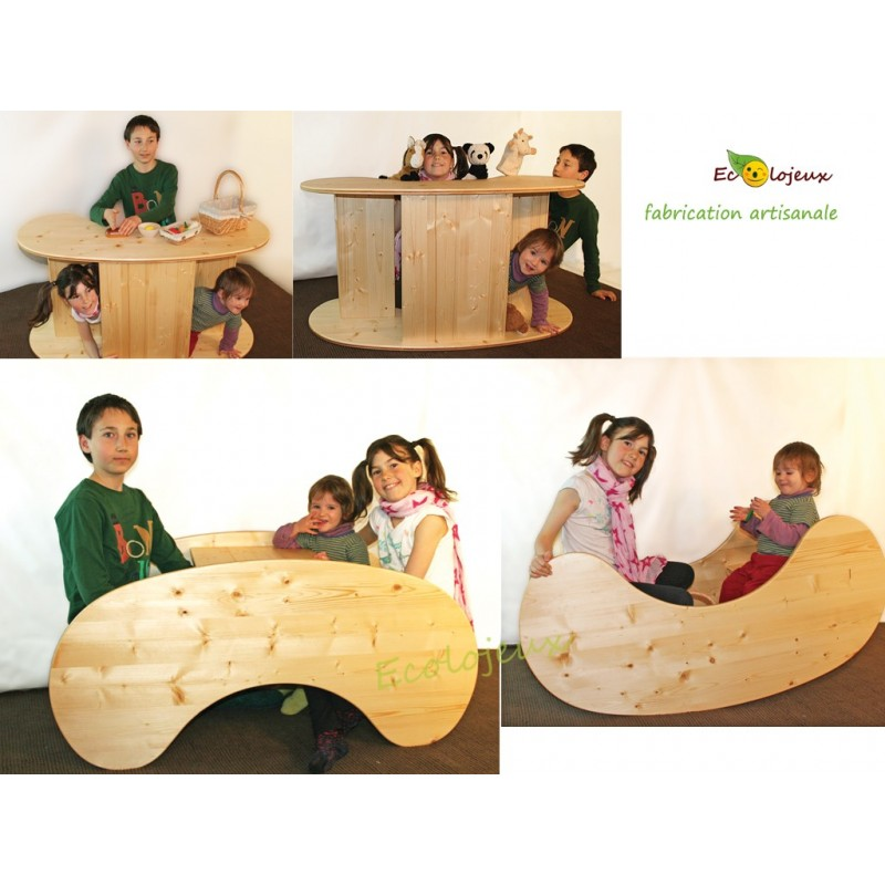 Bascule En Bois Table Enfants En Bois Et Marchande En Bois