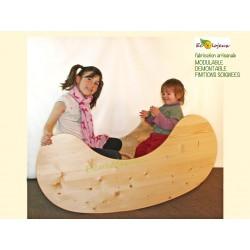 Bascule équilibre RockingChair TABLE ENFANT BOIS MASSIF ECOLO ARTISANALE multifonction bascule Marchande Théâtre BUREAU