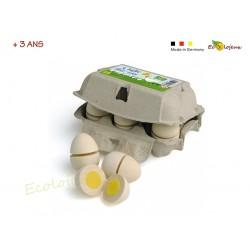 œufs à couper velcro dinette bois Dinette légumes fruits Dinette Erzi Cadeau Pâques enfant