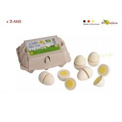 œufs à couper velcro dinette scratch bois Dinette légumes fruits Dinette Erzi Cadeau Pâques enfant
