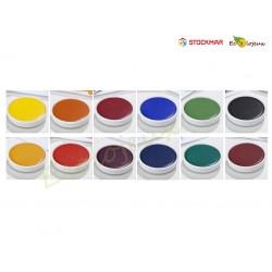 Stockmar Gouache 12 couleurs avec blanc et pinceau Peinture Waldorf école Steiner Peinture naturelle enfant Cires Pavés