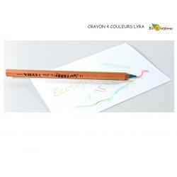 Lyra Stockmar Materiel Waldorf Dessin Crayon 4 couleurs