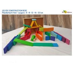 Planchettes Arc en ciel  Jeu de Construction en bois JOUET BOIS WALDORF Montessori Jeu LIBRE