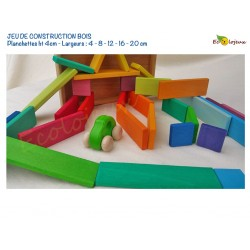 Jeu de Construction bois Jouet libre Planchettes colorées arc en ciel JOUET BOIS WALDORF Montessori