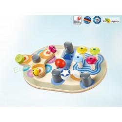 Planche mobile d'activités bébé - Spintivity - jouet d'éveil  Bois Bébé - Selecta