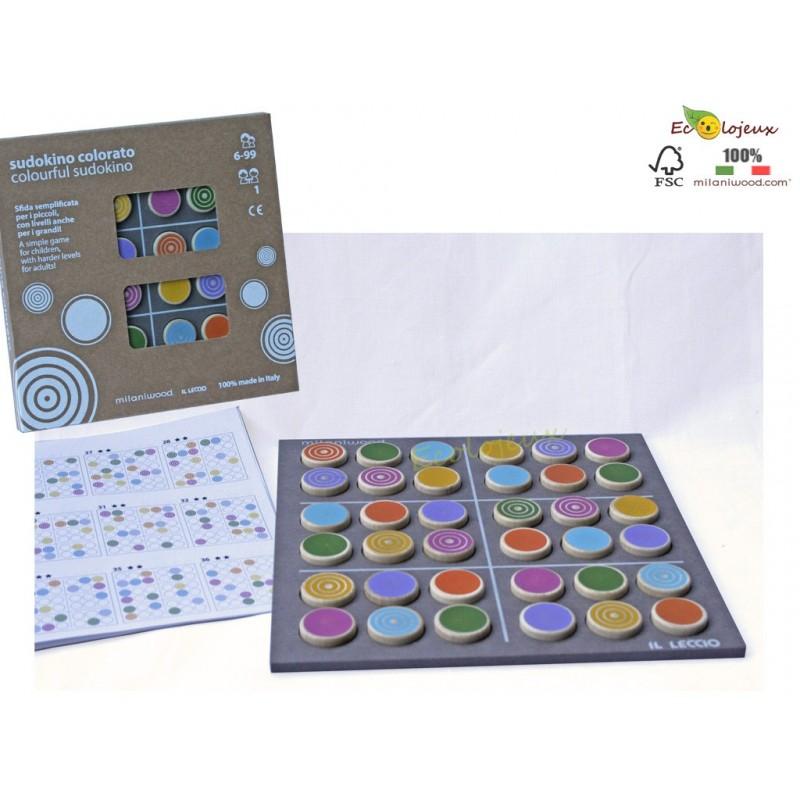 Sudokino en Bois - jeu d'inspiration Sudoku Bois JEU STRATEGIE BOIS Milaniwood Jeu durable écolo respectueux environnement