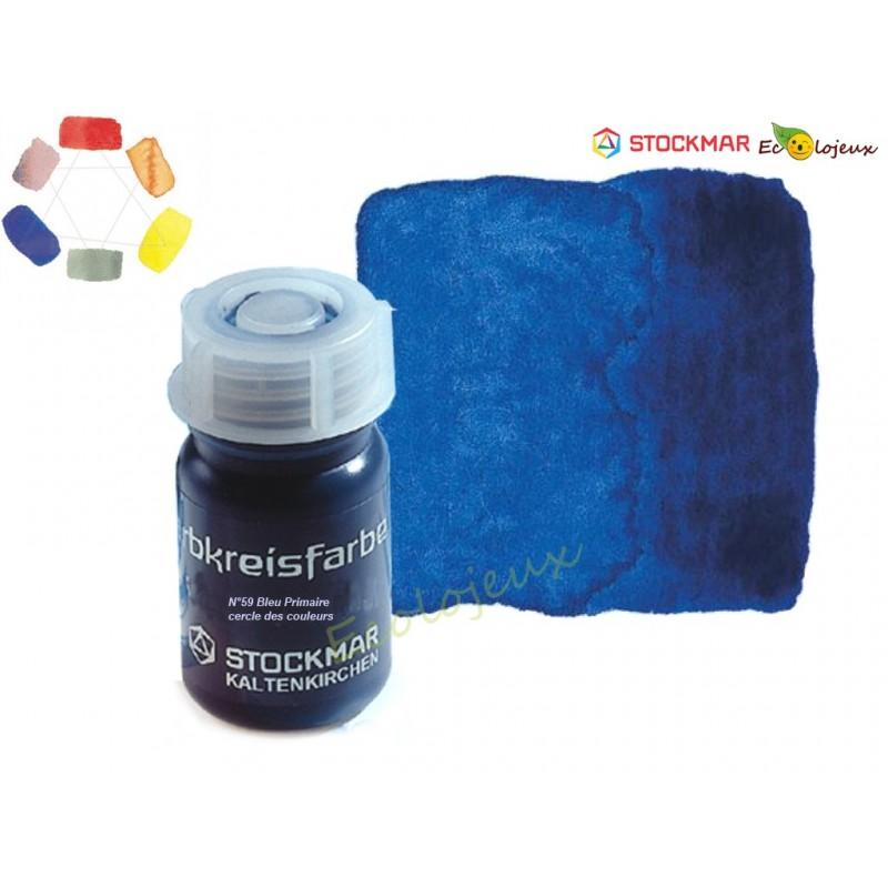 Peinture aquarelle Bleu primaire 50 ml stockmar