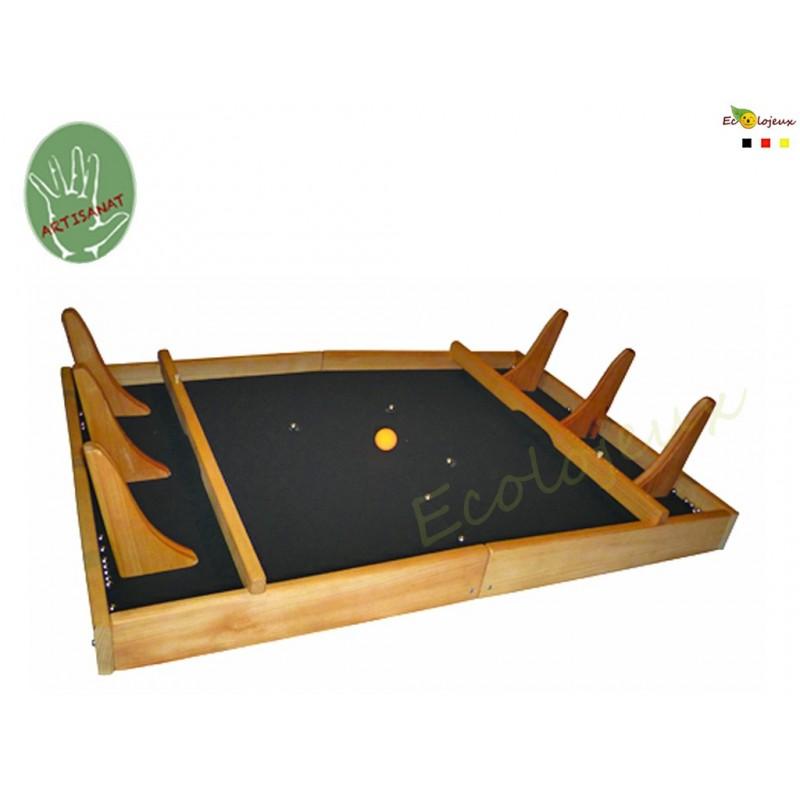 Grand jeu en bois Powerball Style babyfoot avec des billes