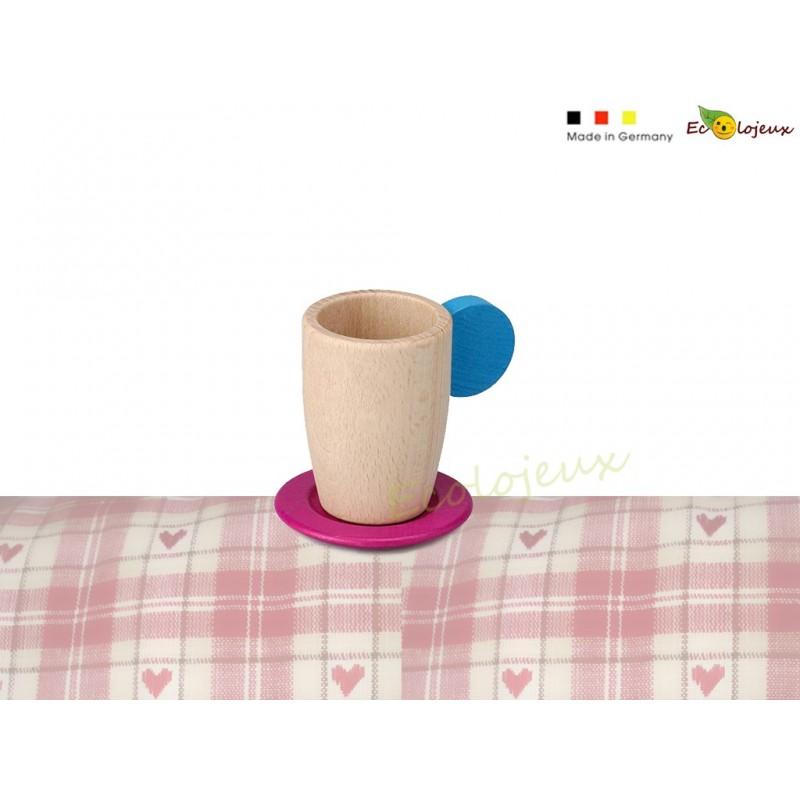 Dinette tasse en bois erzi 10648 Dinette bois écolo cadeau nature enfant