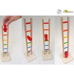Jouet bois traditionnel Acrobate  Arc en Ciel Jeu en bois ancien jouet bois système rigolo
