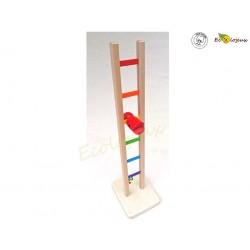Jouet bois original Acrobate  Arc en Ciel Jeu en bois ancien jouet bois traditionnel