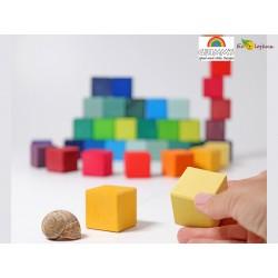 Grimms Rainbow mosaic 43110 Cubes Grimms  Jouet en bois construction