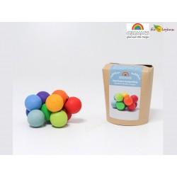 Hochet Boule Arc en ciel Grimms 08121 Rainbow Beads Grasper