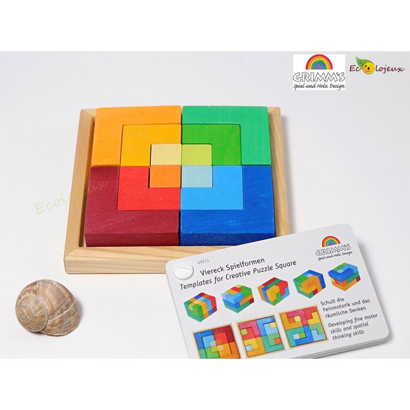Creative Set square Grimms 43311 43211 PUZZLE CARRE Grimm's