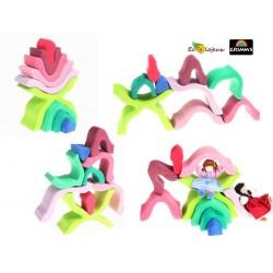 jouet bois grimm's Fleur lotus 10900 jouet naturel ecologique