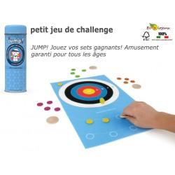 Jeu de puce en bois Jump jeu d'adresse et de challenge 2 à 4 joueurs Jeu en bois famille