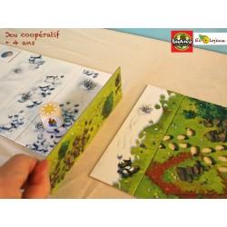 VIVA MONTANYA jeu collaboratif coopératif BIOVIVA Jeu ensemble gagnant gagnant 4 ans 5 ans 6 ans 7 ans Montagna