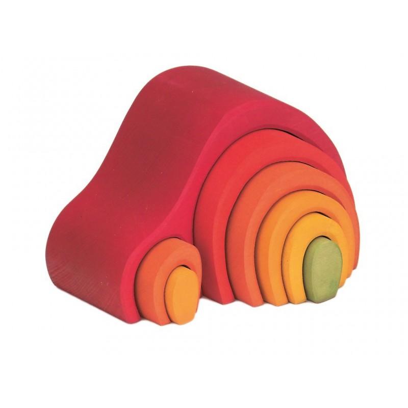 Arc en ciel Grimm's Arches Gluckskafer Jeu Libre Montessori Waldorf Maison de Lutin rouge, en bois