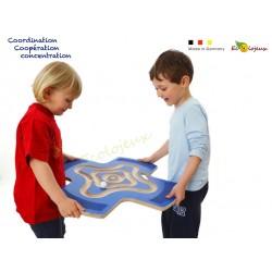 Labyrinthe coopératif Star 46378 Erzi Planche d'équilibre Coopérative Etoile