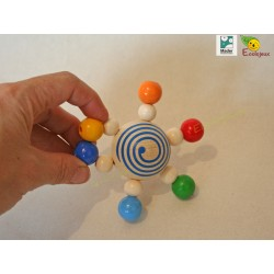 cadeau naissance naturel bio Hochet jouet bois carroussel