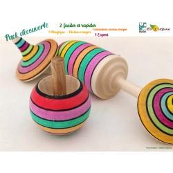 jouet bois toupie collectionneur toupie magique