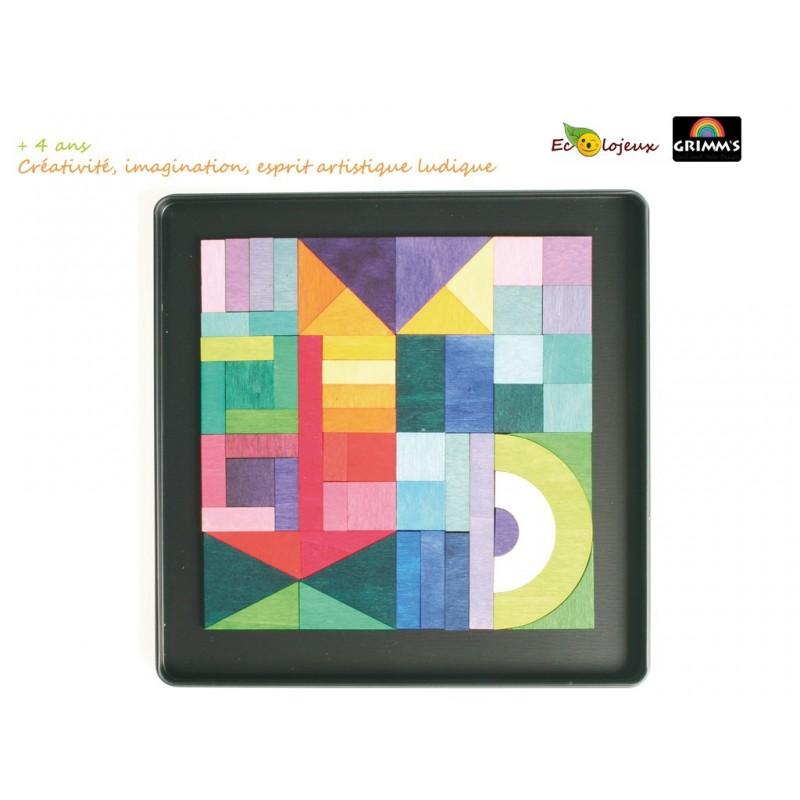 Puzzle bois magnétique créatif Géo-graphique Grimm's 91168 JOUET BOIS éducatif pédagogique