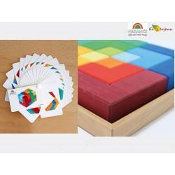 jouet bois libre Creative Set square Grimms 43210 43211 PUZZLE CARRE Grimm's