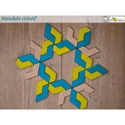 Mandala Jeu créatif et artistique en bois Mandala bois Geoblox 30pcs Erzi Jeu construction Jouet libre