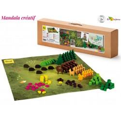 Jouet libre bois Mandala Forêt créatif Mandalay forest Erzi 102 pcs Jeu construction 42281