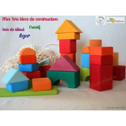 Cubes Blocs de construction bois - Jouet libre Jouet libre couleurs arc en ciel Jouet Waldorf Gluckskafer