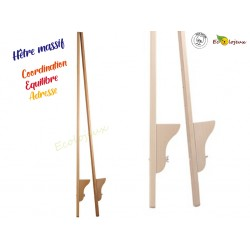 Echasses en bois Hêtre 150cm Fabrication artisanale Allemagne