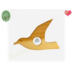 Mobile cristal bois Mouette déco naturel mobile en bois fait main Suspension bois de cerisier