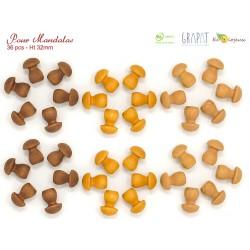 Jouet libre bois Grapat Mandala champignons 18202 Jouet Alsace Colmar Labaroche